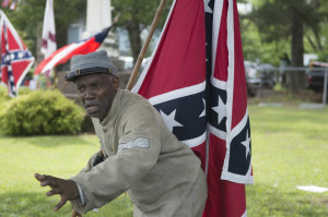 H.K. Edgerton, embraces the pre-war south, at a ceremony honoring Confederate soldiers.